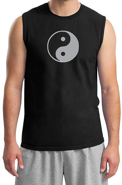 Amazon.com: Mens Camisa De Yoga Yin Yang Meditación muscular ...