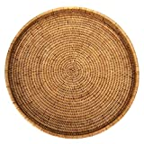 """Artifacts Trading Company Rattan Large Round Tray 19"""" Diameter x 2"""" H"""