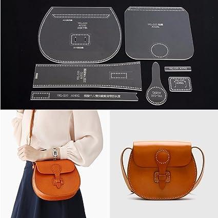 Leather Templates | Amazon Com Diy Leathercraft Acrylic Leather Shoulder Bag Handbag