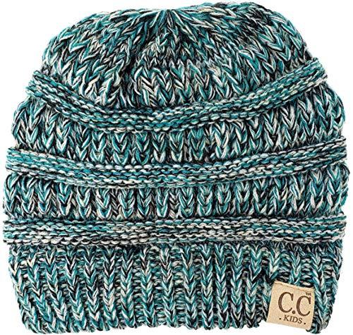 H-3847-816.49 Kids Beanie (NO POM) - Turquoise #3
