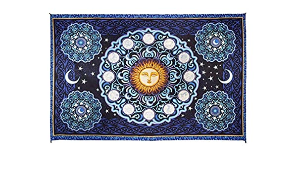 3D Zodiac Mini Tapestry Wall Hanging Astrology Hippie Fabric Poster 30x45 inches