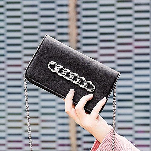 Messenger Portable Retro Un PU Shoulder Noir à Simple pour Strap Bag Usage Asdflina PU Chain bandoulière Sac Quotidien Magnetic Convient gwxdEBEWq7