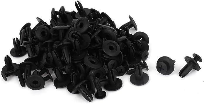 30Pcs Splash Guard Plastic Rivet Black 8mm x 20mm x 15mm for Car Engine Cover