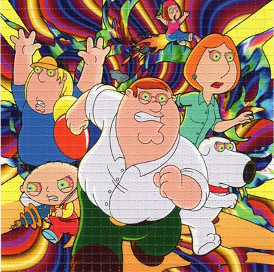 Psychedelic Blotter Art Print perforated sheet/paper 30x30 - Family Guy Design