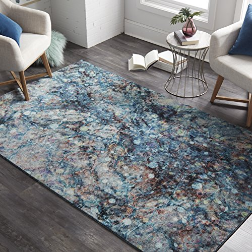 Mohawk Home Z0143 A416 060096 EC Prismatic Layered Marble Multicolored Abstract Precision Printed Area Rug 5'x8' ()