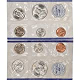 1960 United States Mint Uncirculated Coin Set in Original Government Packaging