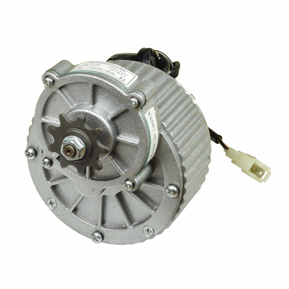 Monster Motion 48 Volt 450 Watt MY1018 Gear Reduction Electric Motor with 9 Tooth 420 Chain Sprocket