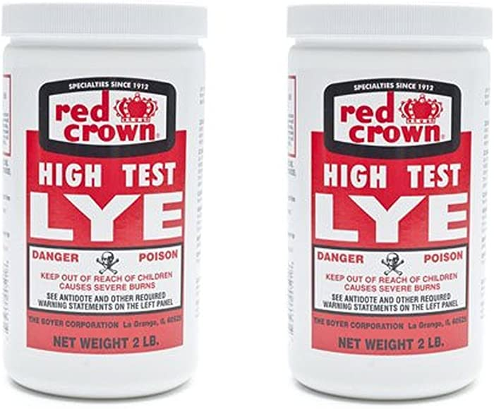 The Boyer Corporation Red Crown Lye 2 Lbs (Pack of 2)