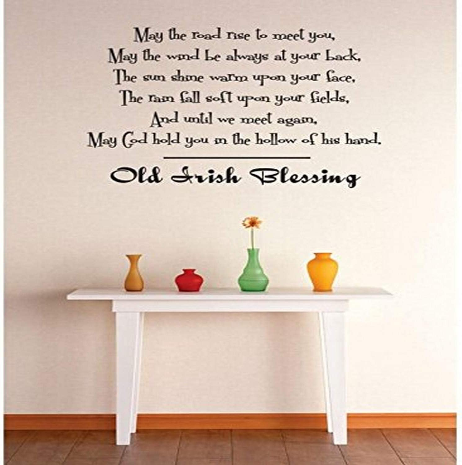 Old Irish Blessing  quote  wall vinyl decal