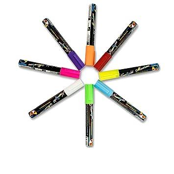 kanzd 8 colores rotuladores de tiza líquida marcador 6 mm ...
