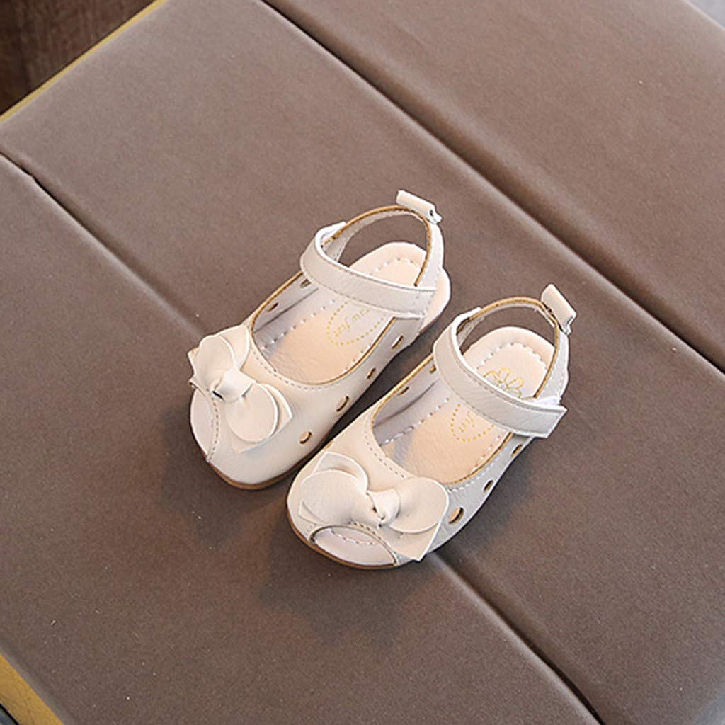 Fabal Summer Infant Kids Baby Girls Bowknot Hollow Casual Princess Shoes Sandals
