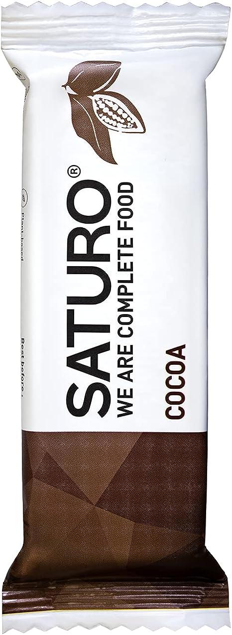 Barritas Proteinas Energéticas Comida Sustitutiva SATURO, Chocolate, 16 x 65 g