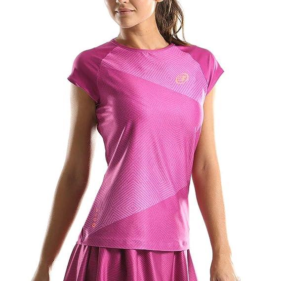 Bullpadel Camiseta Elija Rosa Mujer: Amazon.es: Deportes y aire libre