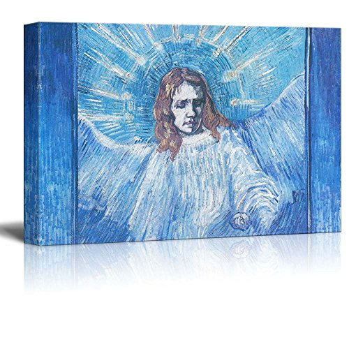 Head of an Angel after Rembrandt by Vincent Van Gogh Print Famous Painting Reproduction
