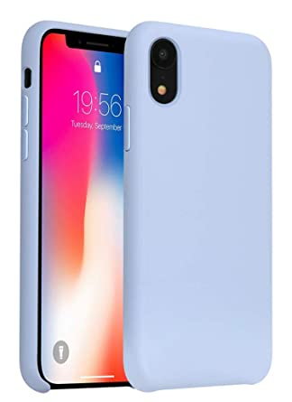 Amazon.com: Funda para iPhone XR, gel de silicona líquido de ...