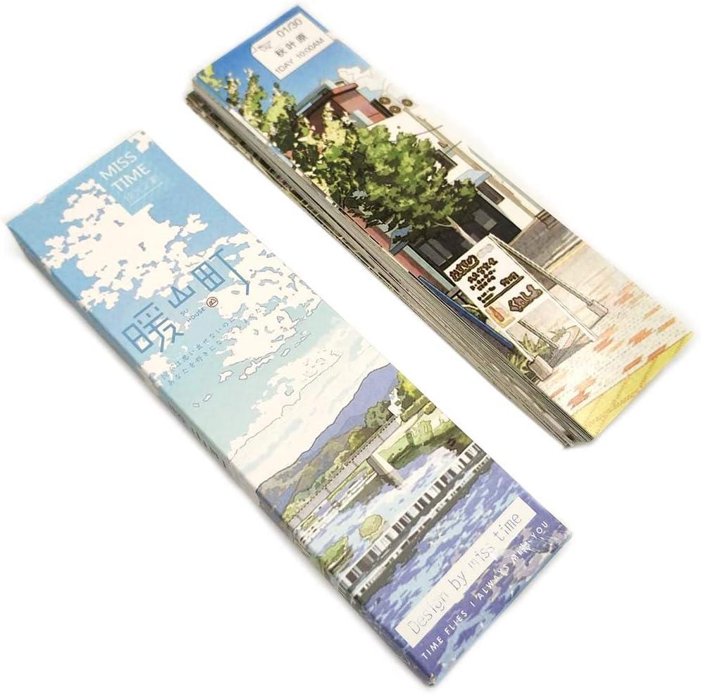 Lesezeichen 30 St/ücke Japanisches Design Bookmark f/ür Kinder Frauen Studenten Papier Lesezeichen Lesen Anreize f/ür Schule Preise Klassenzimmer Auszeichnungen Angebot Meldungskarte Segen Karte