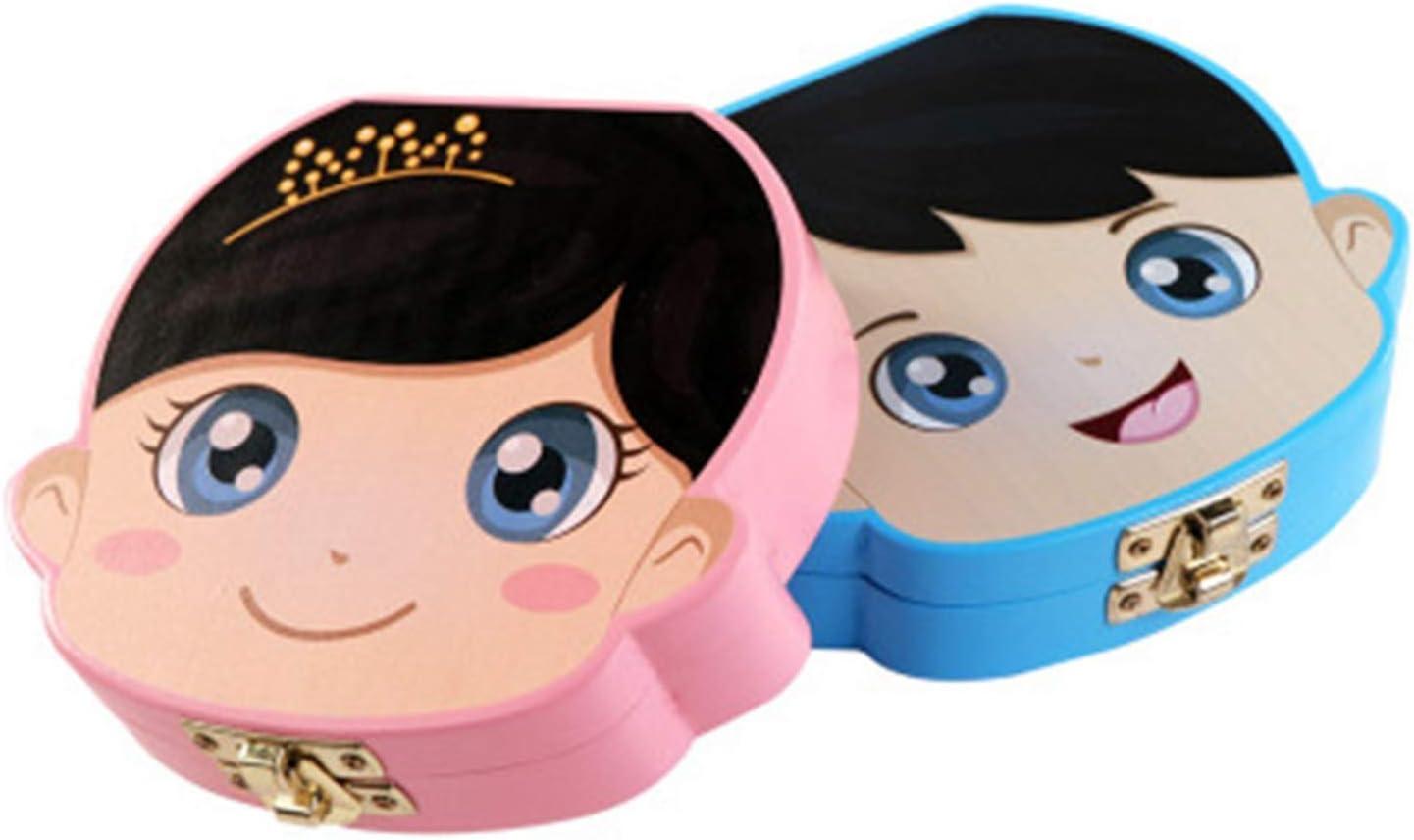 Blau Monland Baby Zahn Box Holz Milch Z?hne Organizer Lagerung Jungen M?dchen Speichern Souvenir Fall Geschenk Kreative Baby Zahn Organizer F/üR Kinder