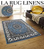 LA Rug Linens Persian Elegance Light Blue Sly Blue White Cream Brown Black Classic Traditional Persian Tabriz Design 8×10 Feet Area Rug Carpet Rug Living Room Dining Room Review