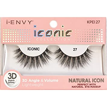d49ab454b9e Image Unavailable. Image not available for. Color: i Envy by Kiss iconic 3D  Angle & Volume Lashes NATURAL ICON ...