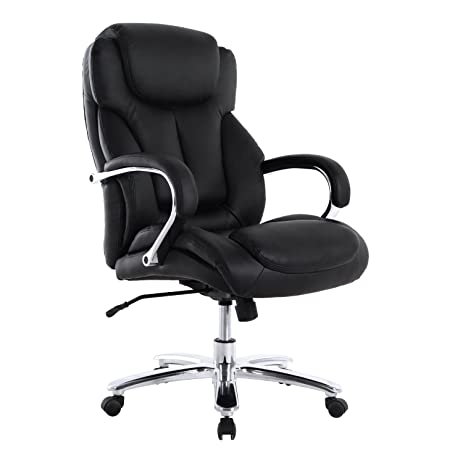 LCH Big And Tall 500 Lb. Executive Office Chair   High Back Bonded Leather