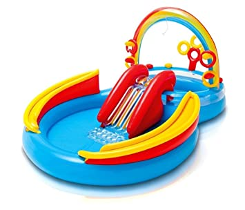 Kids Inflatable Pool Small Kiddie Blow Up Above Ground Swimming Is Great For Toddlers