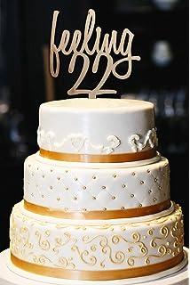 Feeling 22 Cake Topper 22nd Birthday Milestone