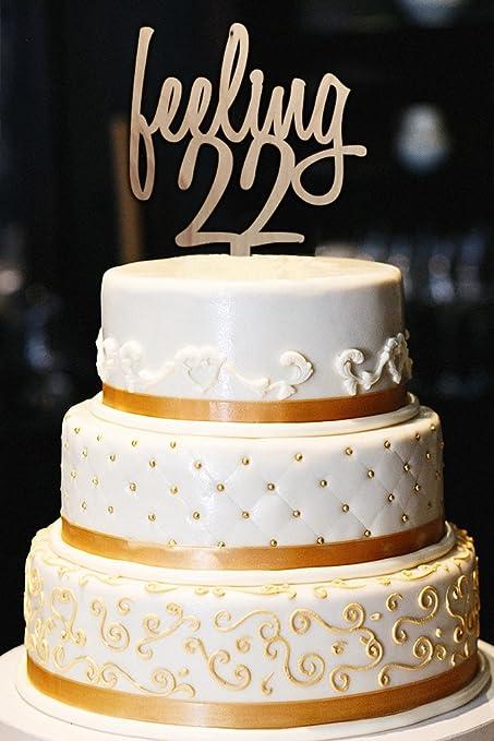 amazon com feeling 22 cake topper feeling 22 22nd birthday cake