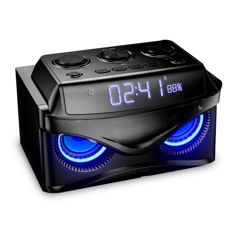 Reloj Digital Bluetooth Altavoz pequeño estéreo Mini inalámbrico teléfono móvil Ordenador subwoofer Alarma Reloj Despertador Creativo Coche U Disco Tarjeta ...