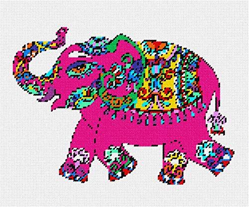 (pepita Elephant in Celebration Needlepoint)
