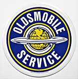 Oldsmobile Service Round Metal Sign