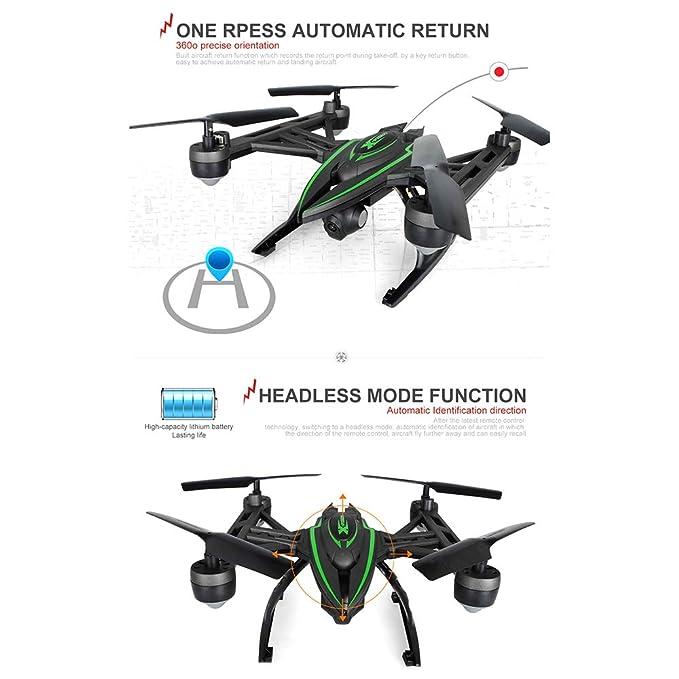 Drone, 5.8 G FPV con 2.0 MP cámara de vigilancia HD RC Drone ...