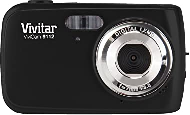 Vivitar 9.1MP Digital Camera with 1.8-Inch Screen (V9112-BLK-PR), Color May Vary