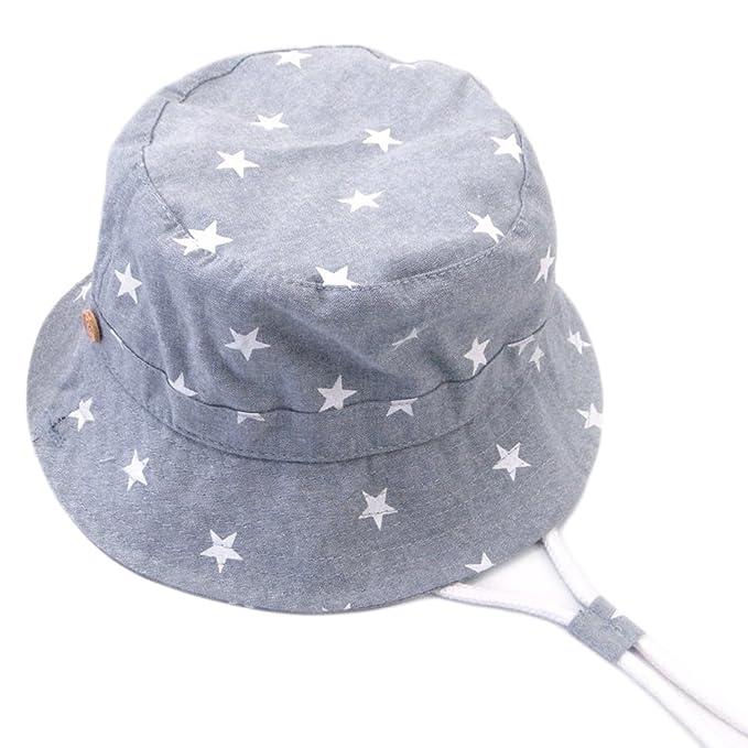 Arcweg Cappello Da Sole Bimba 100% Cotone Tesa Larga Sottogola Regolabile Cappelli  Per Bambini Estivi 2d884aa19a59