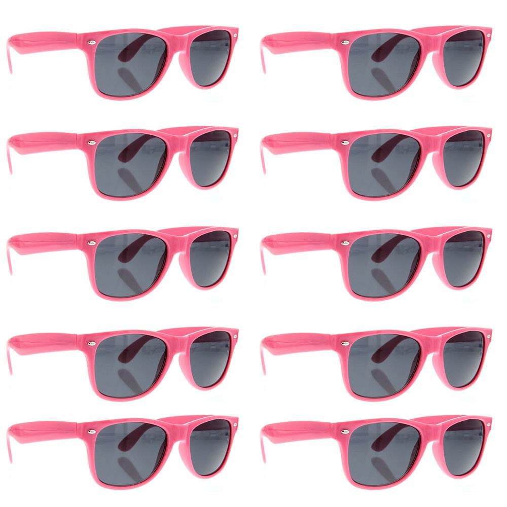 2205cac9c3 grinderPUNCH Sunglasses 10 Bulk Pack Lot Neon Color Party Glasses Wholesale  product image