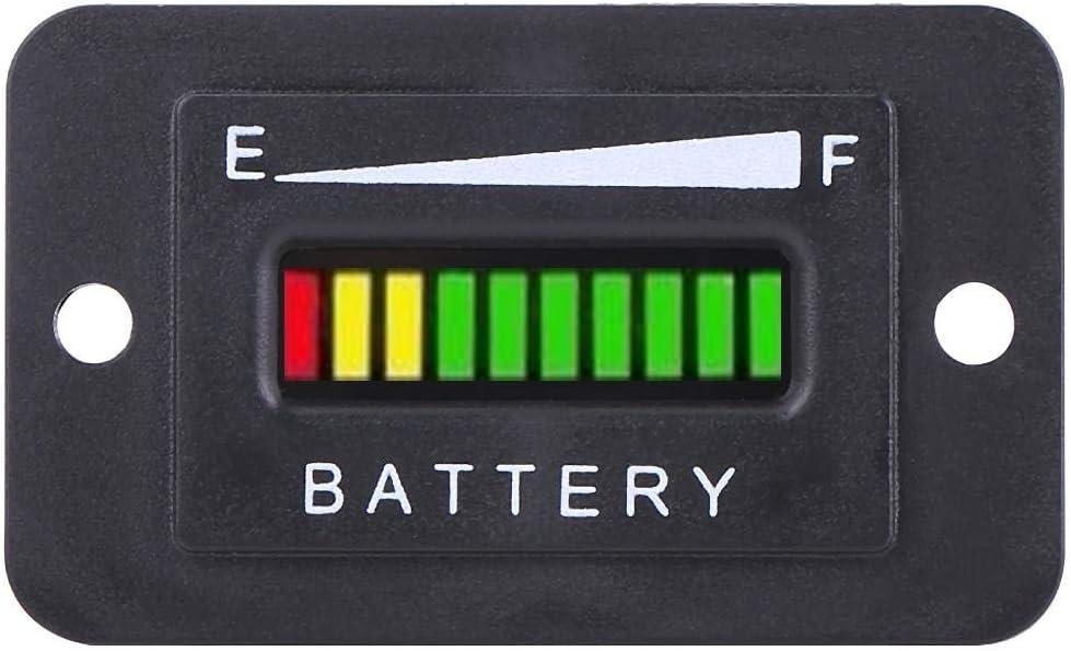 Fydun 12 V 24 V 36 V 48 V LED Digital Batterieanzeige Messger/ät Batterieanzeige BI003-12//24V