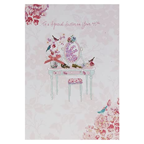 Amazon special sister on your 40th birthday birthday card special sister on your 40th birthday birthday card bookmarktalkfo Choice Image