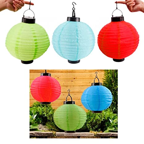 3 x solar led chinese paper lanterns party round 10 garden wedding 3 x solar led chinese paper lanterns party round 10quot garden wedding decoration junglespirit Gallery