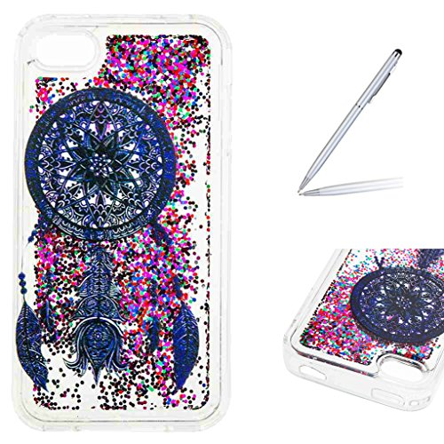 Trumpshop Smartphone Protective Case for Apple iPhone 4/4s Creative Flowing Liquid Quicksand + Dreamcatcher + Ultra Soft Flexible TPU Silicone Cover Anti-Scratch Shockproof]()