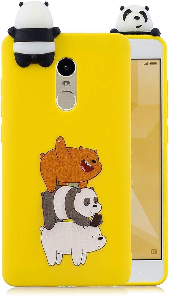 WUBAOUK Compatible con Funda Xiaomi Redmi Note 4 - Silicona Oso ...