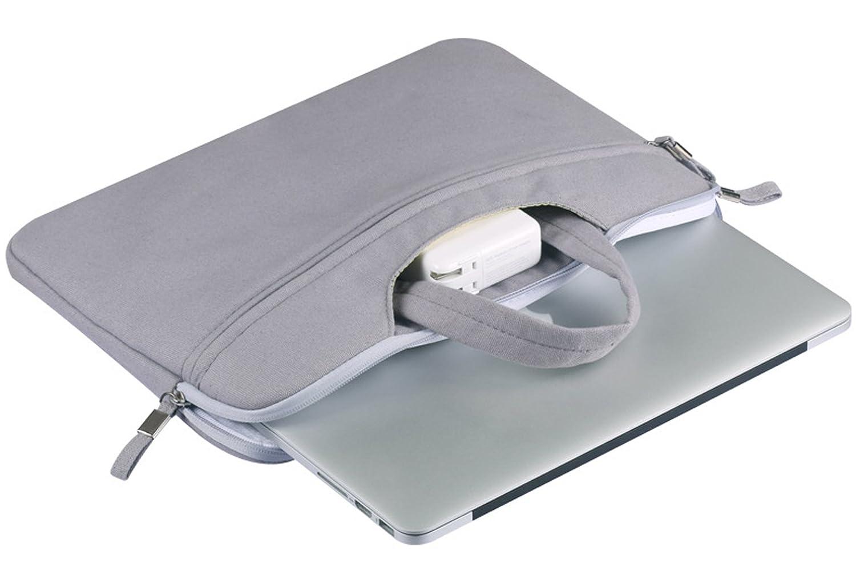 TieNew Housse Sac pour Laptop//Ordinateur portable//MacBook//Notebook//Ultrabook//Netbook imperm/éable manches Sac souple couverture matelass/é avec fermeture /Éclair et anse 13-13.3 Pulgadas
