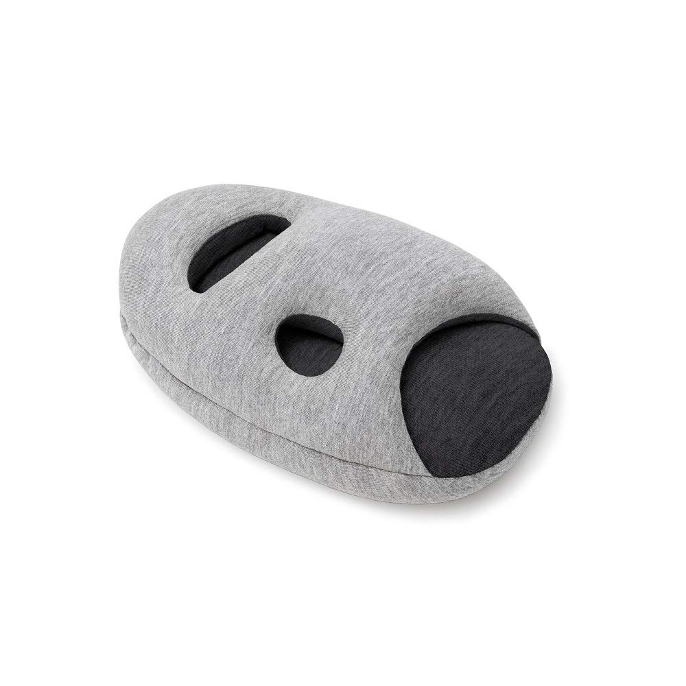 OSTRICH PILLOW MINI Travel Pillow for Airplane Head Support - Travel Accessories for Hand and Arm Rest, Power Nap on Flight and Desk - Midnight Gray by OSTRICH PILLOW