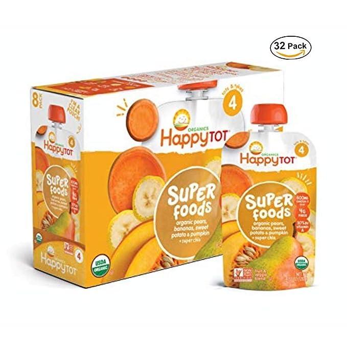 Happy Tot - Bolsas orgánicas para alimentos de bebé (16 ...