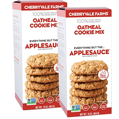 Cherryvale Farms, Oatmeal Cookie Baking Mix, Everything But The Applesauce, Add Fresh Produce, Tastes Homemade, Non-GMO, Vegan, 100% Plant-Based, 16 oz (pack of 2)