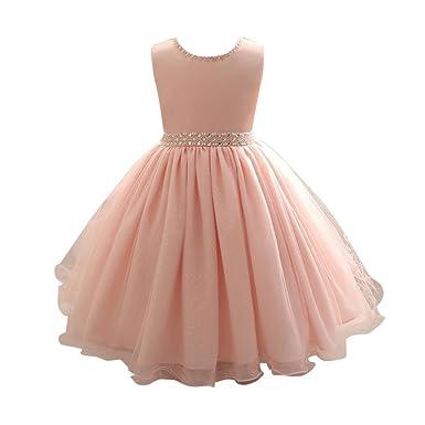 Dragon868 Kinder Kleidung Mädchen, Dragon868 Rosa Perlen Kleid ...