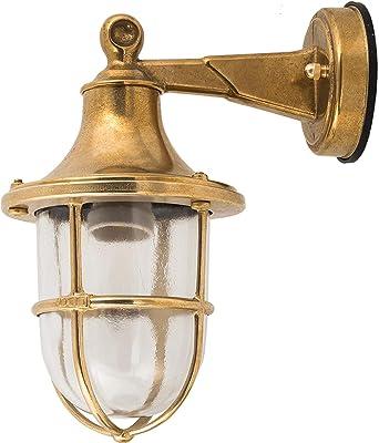 Mur lampe en laiton ip64 ø14cm résistant aux intempéries Bateau Lampe Terrasse Maison Porte