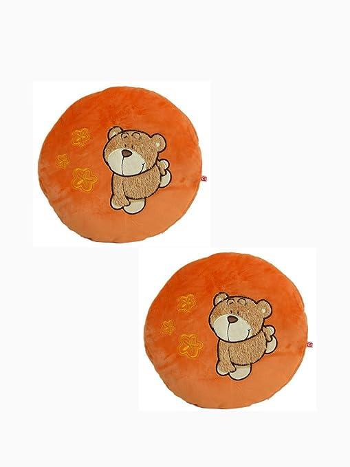 Amazon.com: Oso Miel – Almohada Cojín redondo, color naranja ...