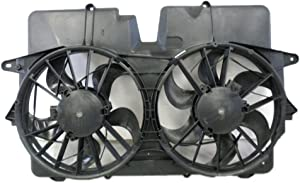 Dual Radiator and Condenser Fan Assembly - Cooling Direct Fit/For 5L8Z8C607HB 05-07 Mercury Mariner (3.0L-Engine Only)