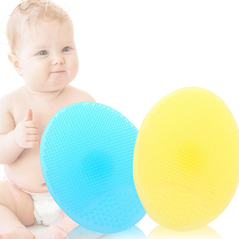 Hemore - Cepillos de baño para el pelo de bebé, 1 unidad, cepillo para el cuero cabelludo de la ducha, cepillo de masaje suave, silicona de grado alimenticio, juguetes para la ducha de bebé, girasol con asa, cuidado de la salud del bebé