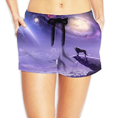 Xush Lions Women Shorts Swim Trunks Quick Dry Beach Shorts with Pockets for Surfing Running Swimming Watersport