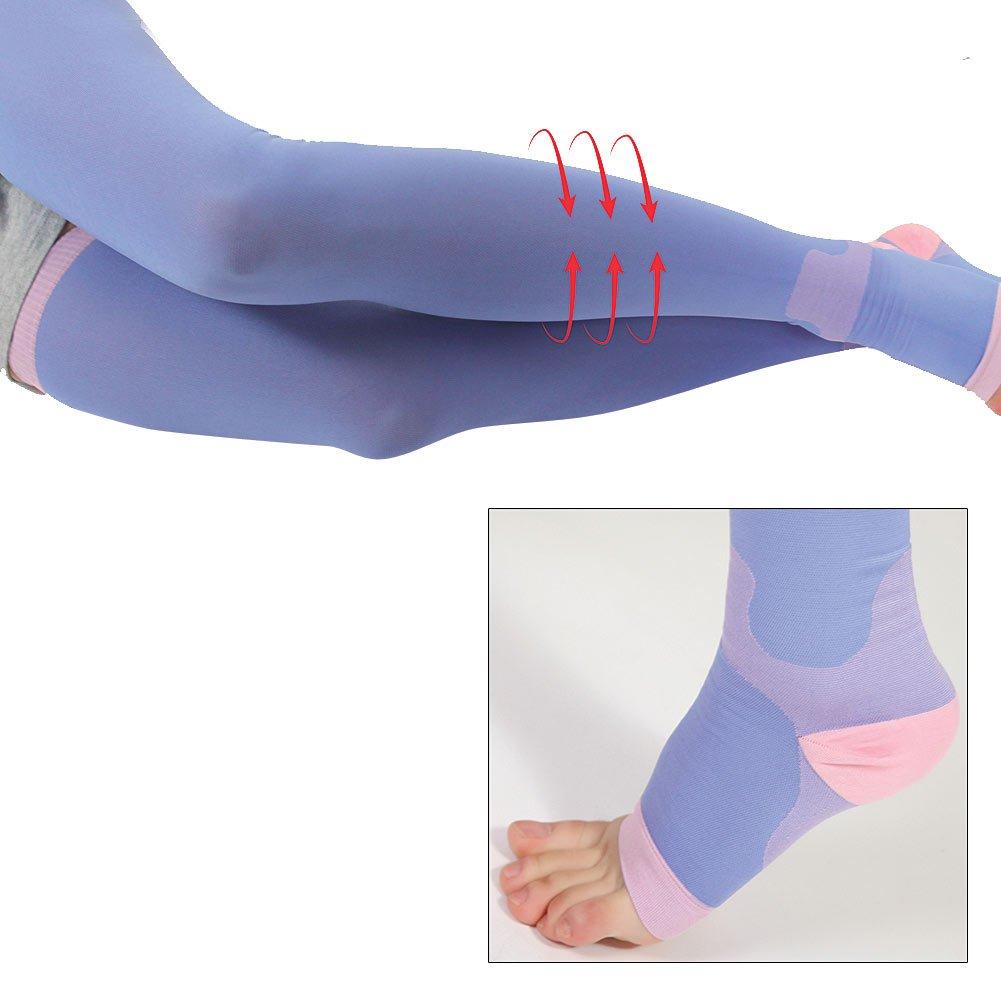 Sleeping Leggings L/XL Reduce Varicose Spider Vein Thigh High Light Compression